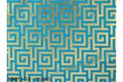 電子絲絨布背銀印交錯回字紋
