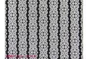 電子絲絨布背銀印直條蕾絲花紋