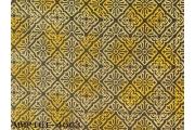 N/T厚SATIN布印古典磚塊花紋格